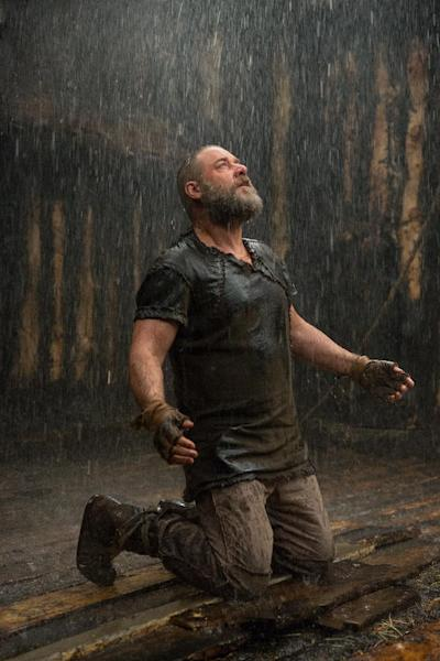 """This image released by Paramount Pictures shows Russell Crowe as Noah in a scene from the film, """"Noah."""" (AP Photo/Paramount Pictures, Niko Tavernise)"""