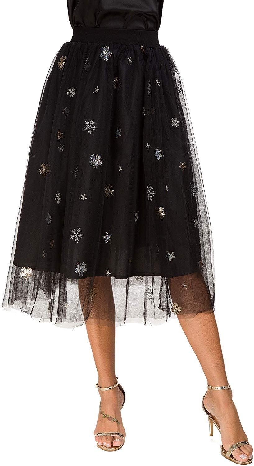 """<p>Nothing says the holidays quite like this <a href=""""https://www.popsugar.com/buy/Alcea-Sparkly-Snowflake-Tulle-Skirt-512894?p_name=Alcea%20Sparkly%20Snowflake%20Tulle%20Skirt&retailer=amazon.com&pid=512894&price=20&evar1=fab%3Aus&evar9=46859993&evar98=https%3A%2F%2Fwww.popsugar.com%2Ffashion%2Fphoto-gallery%2F46859993%2Fimage%2F46860974%2FAlcea-Sparkly-Snowflake-Tulle-Skirt&list1=shopping%2Camazon%2Choliday%2Cwinter%20fashion%2Choliday%20fashion%2C50%20under%20%2450%2Cgifts%20for%20women%2Caffordable%20shopping&prop13=mobile&pdata=1"""" rel=""""nofollow noopener"""" class=""""link rapid-noclick-resp"""" target=""""_blank"""" data-ylk=""""slk:Alcea Sparkly Snowflake Tulle Skirt"""">Alcea Sparkly Snowflake Tulle Skirt</a> ($20).</p>"""