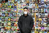A vendor stands at a video game shop in Tehran's central market. Pro Evolution Soccer and Clash of Clans are reportedly among the most popular games in the Islamic republic