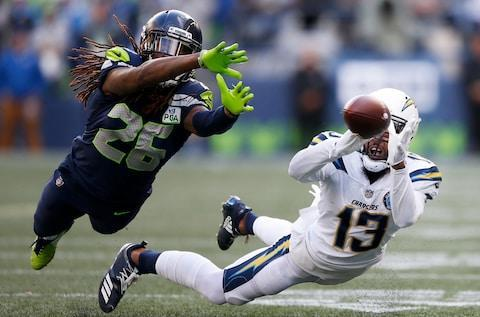 <span>The Seahawks fell just short against the Chargers in Seattle</span> <span>Credit: Otto Greule Jr/Getty Images </span>