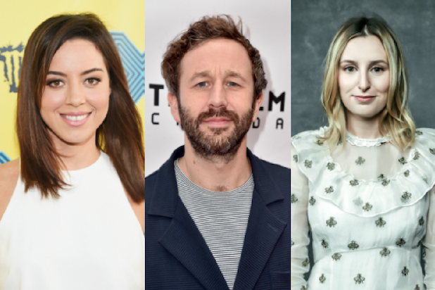 Aubrey Plaza Chris O Dowd And Other Stars Join Anti Trump Protests In Uk
