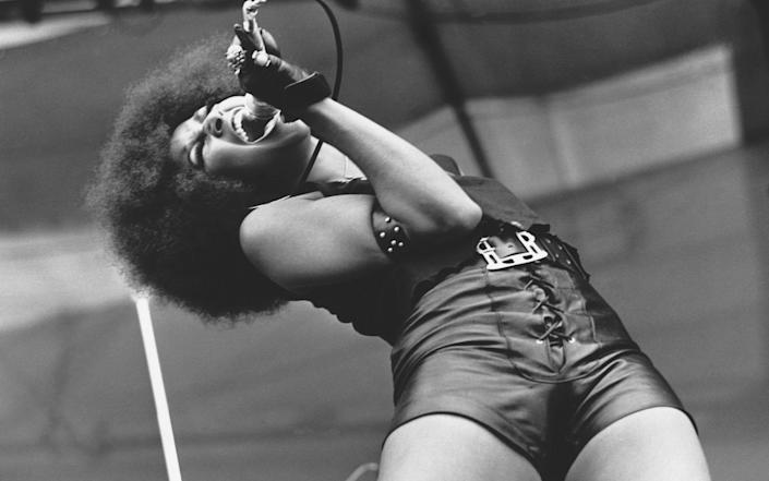 Singer and actress Marsha Hunt, former lover of Mick Jagger and supposedly an inspiration for Brown Sugar - Corbis