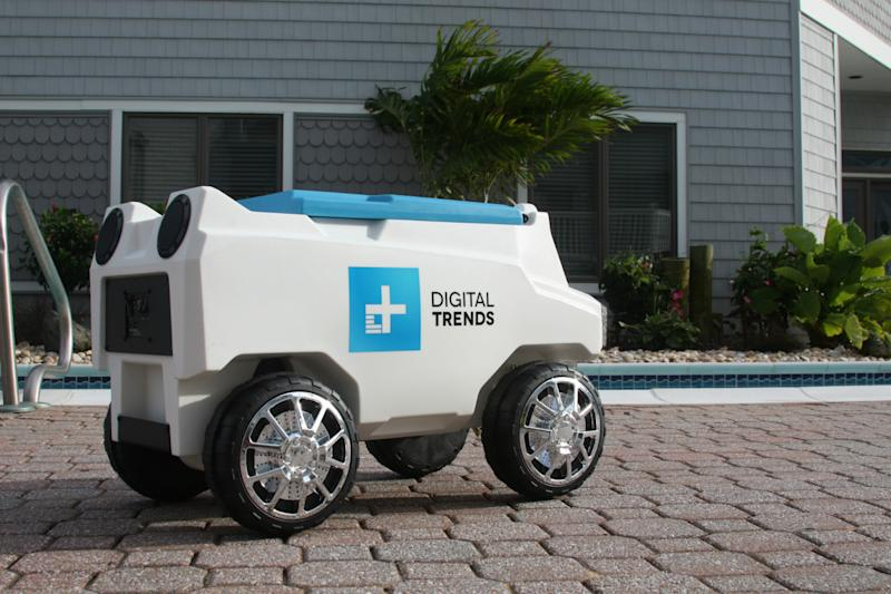 Take the party with you with an RC custom cooler that hauls drinks and plays tunes