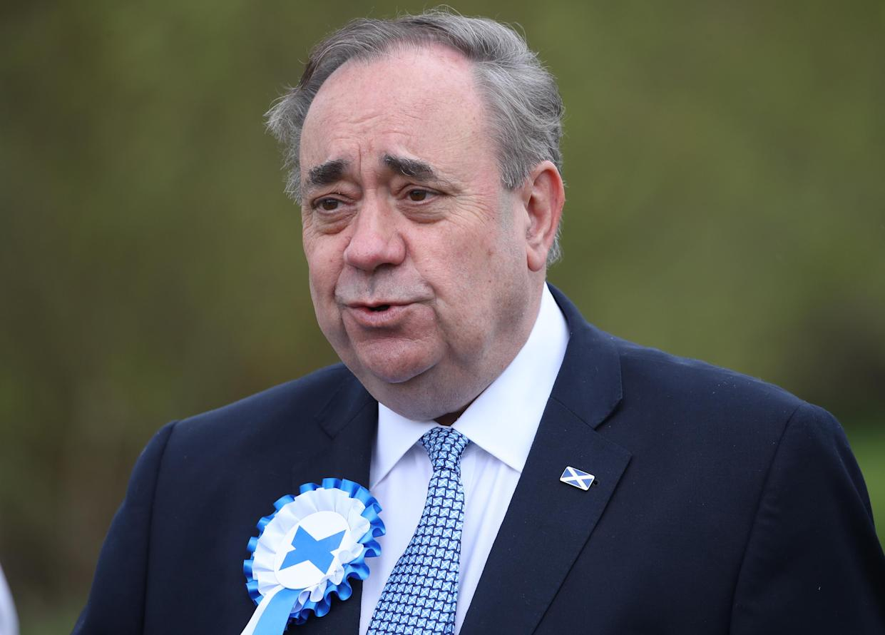 Alba Party leader Alex Salmond said it would be 'foolish' for the royal family to become involved in the debate over Scotland's future (Andrew Milligan/PA)