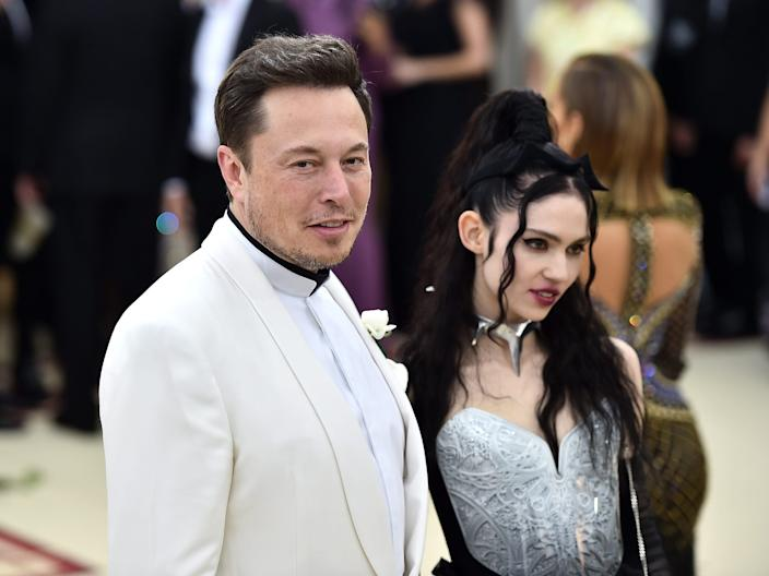 Elon Musk and music artist, Claire Elise Boucher, professionally known as Grimes.