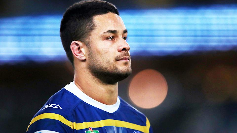 Jarryd Hayne, pictured here in action for the Parramatta Eels in 2018.