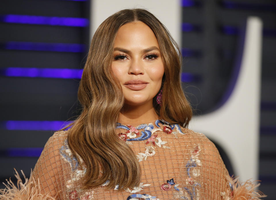 Chrissy Teigen (pictured in 2019) has shared an achingly raw essay about grieving the loss of her son Jack. (Photo: REUTERS/Danny Moloshok)