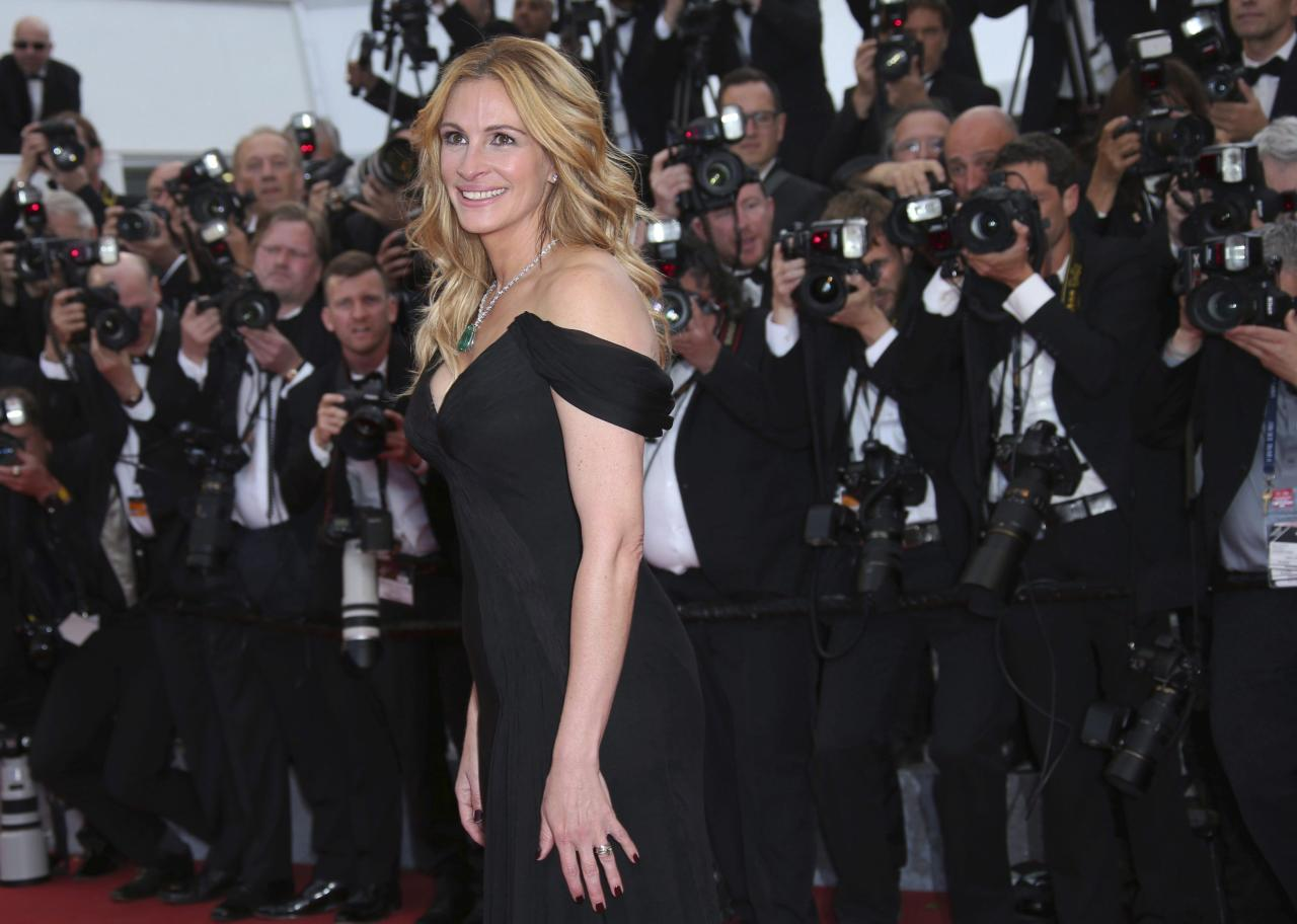 <p><strong>No. 8 (tie): Julia Roberts</strong><br /><strong>Past year's earnings: $12 million</strong><br />A long way from Hollywood Boulevard, the <em>Pretty Woman</em> did well with a paycheque from upcoming film <em>Wonder</em>, as well as earnings from past roles and a Lancome deal, reports <em>Forbes</em>.<br />(Canadian Press) </p>