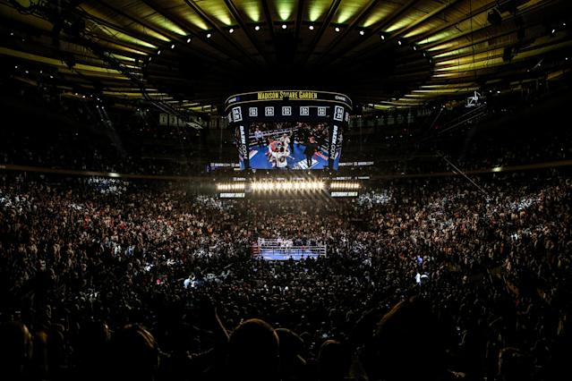 Madison Square Garden has hosted many top boxing cards, including the heavyweight title fight on June 1, 2019, between Anthony Joshua and Andy Ruiz Jr. (Photo by Anthony Geathers/Getty Images)