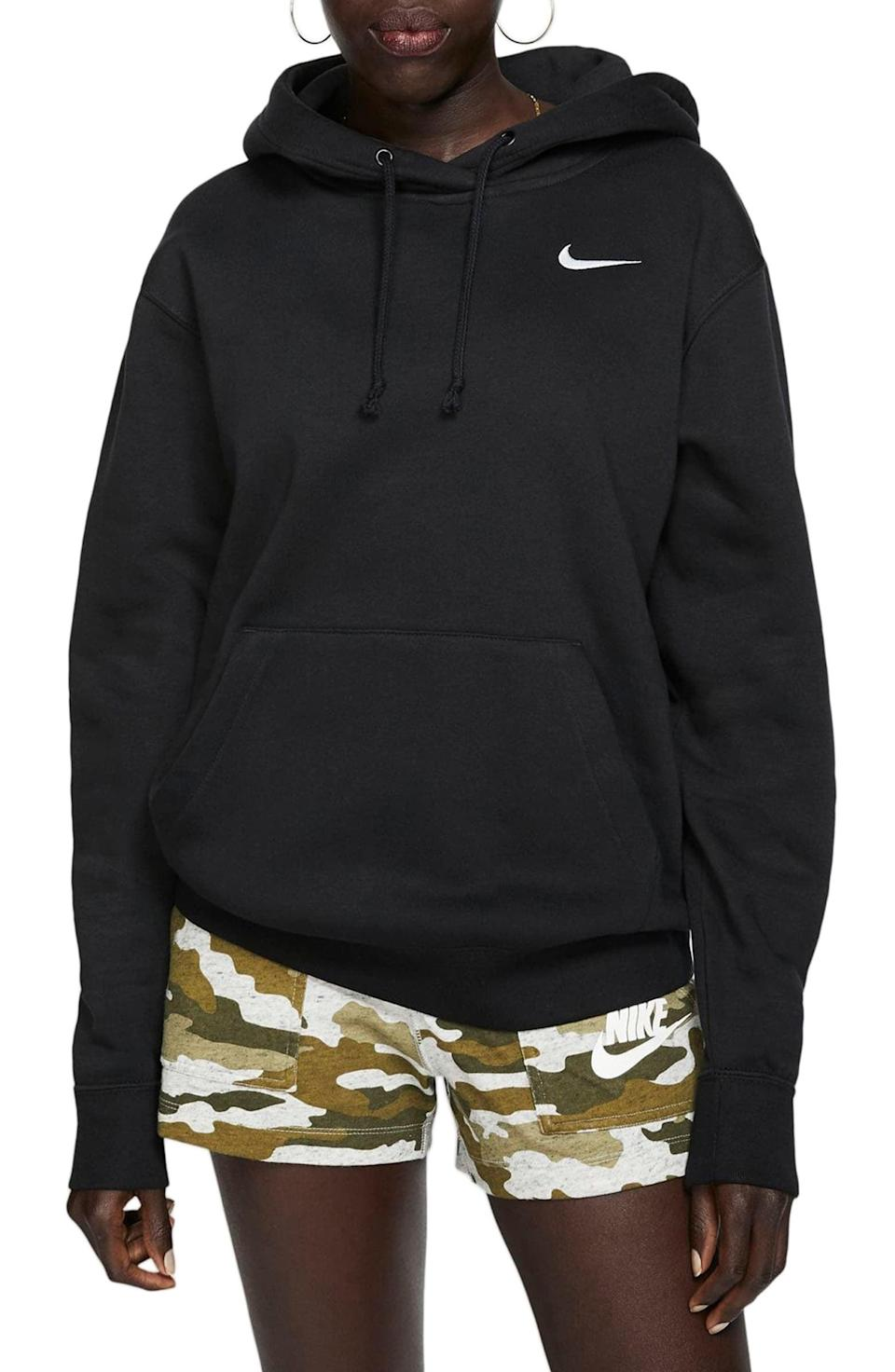 <p>Keep your hood up and your head down. Stay protected in this <span>Nike Sportswear Fleece Hoodie</span> ($49, originally $65), and make sure you throw it in the wash ASAP.</p>