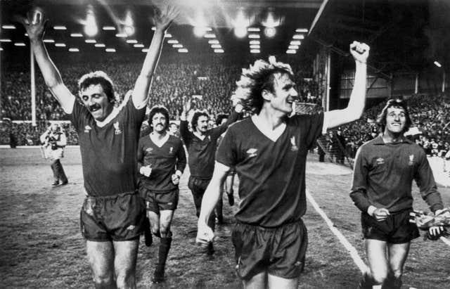 Ray Clemence, right, and Liverpool team-mates