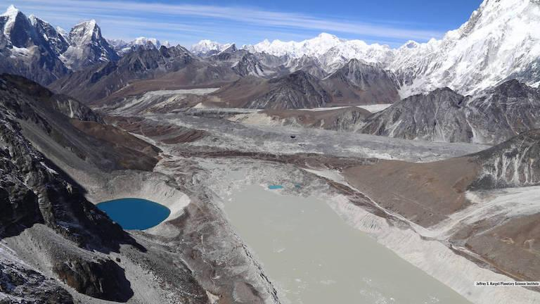 Lake Imja near Mount Everest has tripled in length (Planetary Science Institute)