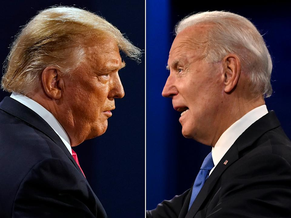 On Tuesday, America will elect its new president, while Joe Biden has been touted to win, Donald Trump could pull another surprise victory out the bag. Photos: Morry Gash and Jim WAatson / AFP via Getty Images