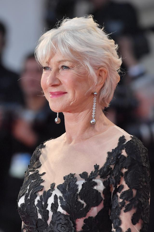 """Actress Helen Mirren attends the premiere of the movie """"The Leisure Seeker"""" (Ella and John) presented in competition at the 74th Venice Film Festival on September 3, 2017"""