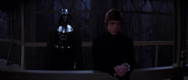 Luke and Darth have a father/son chat (Image by Lucasfilm)
