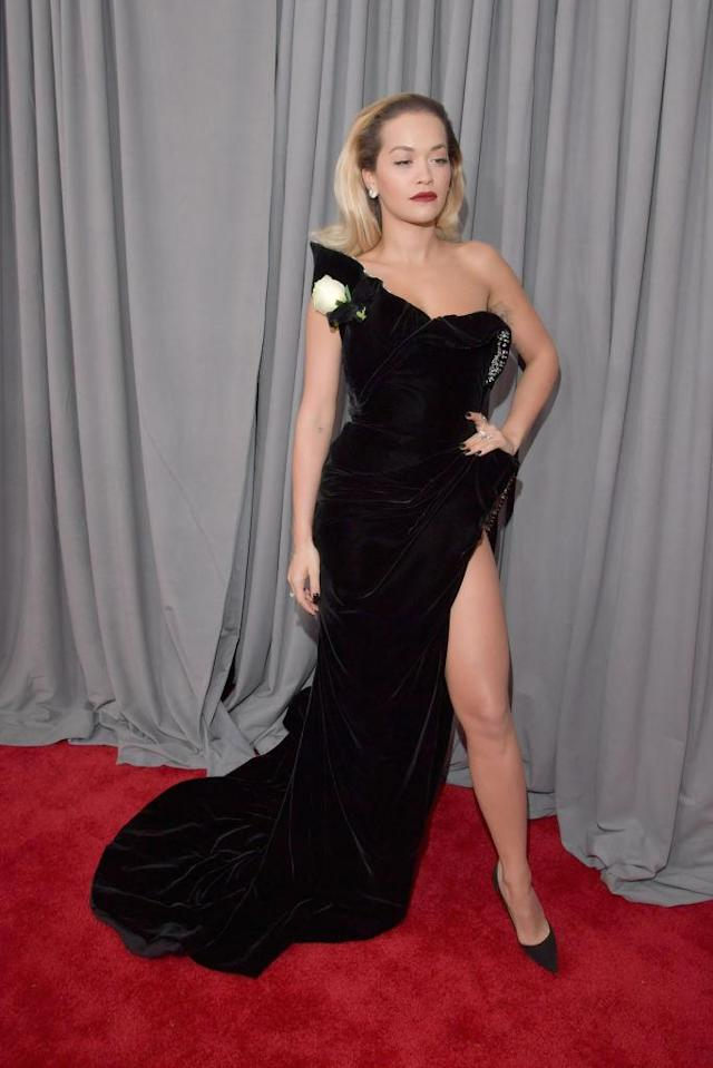 <p>Rita Ora attends the 60th Annual Grammy Awards at Madison Square Garden in New York on Jan. 28, 2018. (Photo: John Shearer/Getty Images) </p>