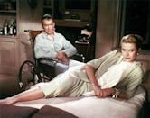 """<a href=""""http://movies.yahoo.com/movie/rear-window/"""" data-ylk=""""slk:REAR WINDOW"""" class=""""link rapid-noclick-resp"""">REAR WINDOW</a> (1954) <br>Directed by: <span>Alfred Hitchcock</span> <br>Starring: <span>James Stewart</span>, <span>Grace Kelly</span> and <span>Raymond Burr</span>"""
