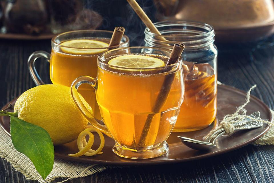 """<p>Welcome guests in from the cold with a freshly simmered hot toddy. You can reuse the cinnamon stick garnishes for other cocktails later in the night. </p><p><a href=""""https://www.goodhousekeeping.com/food-recipes/a15319/cider-hot-toddy-recipe-ghk1213/"""" rel=""""nofollow noopener"""" target=""""_blank"""" data-ylk=""""slk:Get the recipe for Cider Hot Toddy »"""" class=""""link rapid-noclick-resp""""><em>Get the recipe for Cider Hot Toddy »</em></a></p>"""