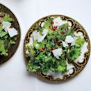 """Massaging the dressing into the kale with your hands helps break down some of the fibers so the greens are more tender. <a href=""""https://www.epicurious.com/recipes/food/views/kale-with-pomegranate-dressing-and-ricotta-salata-51255570?mbid=synd_yahoo_rss"""" rel=""""nofollow noopener"""" target=""""_blank"""" data-ylk=""""slk:See recipe."""" class=""""link rapid-noclick-resp"""">See recipe.</a>"""