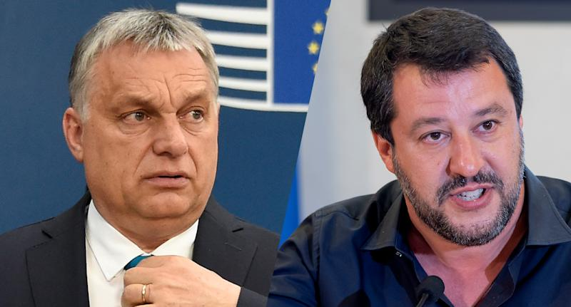 Hungary's Prime Minister Viktor Orban, left, and Italian Deputy Premier and Interior Minister Matteo Salvini. (Photos: John Thys/AFP/Getty Images; Stefano Montesi/Corbis/Getty Images)