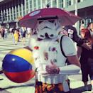 This Stormtrooper is surf-ready. What else do you expect in Cali?