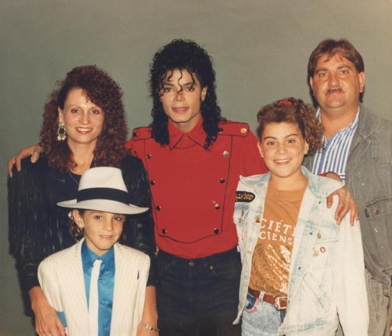 Michael Jackson with the Robson family (Channel 4)