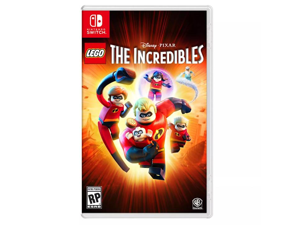 "<p>""The <em>Incredibles</em> video game is one of the best ones out there as far as LEGO video games go — it's both <em>Incredibles</em> movies rolled into one giant game that will keep your kids entertained for hours and hours. Even I was getting into it! It's so fun and it's great for kids because the characters never die (the LEGO pieces just fall apart and get back together) and kids have to use their brains to solve different puzzles. They also get to fight crime and be superheroes!""</p> <p><strong>Buy It!</strong> LEGO <em>The Incredibles</em> for Nintendo Switch, $20; <a href=""https://goto.target.com/c/249354/81938/2092?subId1=PEOJimmyFallonPicksHisFavoriteHolidayGiftsforEveryMemberoftheFamilyhchubbHomGal12392341202011I&u=https%3A%2F%2Fwww.target.com%2Fp%2Flego-the-incredibles-nintendo-switch%2F-%2FA-53529962"" rel=""nofollow noopener"" target=""_blank"" data-ylk=""slk:target.com"" class=""link rapid-noclick-resp"">target.com</a></p>"