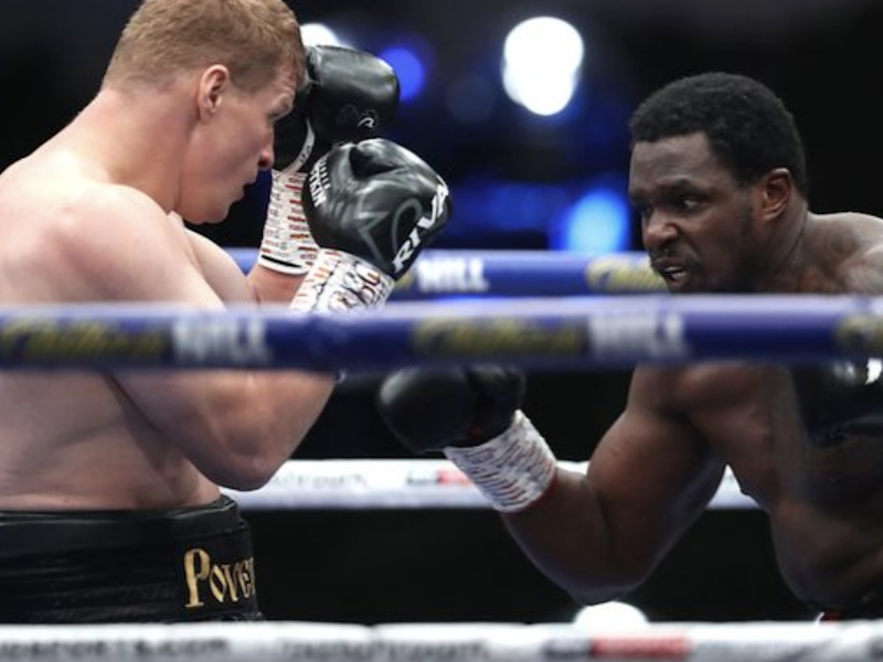 Dillian Whyte (right) in action against Alexander Povetkin: Sky Sports