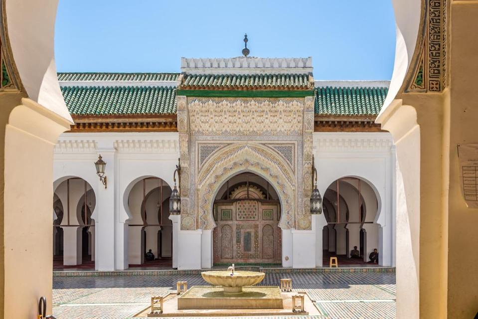 "Located in Fez, Morocco, the University of Karueein (or University of Al Quaraouiyine) was founded all the way back in 859 A.D. It has continued to operate for more than a thousand years, which earned it the <a href=""http://www.guinnessworldrecords.com/world-records/oldest-university"" rel=""nofollow noopener"" target=""_blank"" data-ylk=""slk:Guinness World Record"" class=""link rapid-noclick-resp"">Guinness World Record</a> for ""Oldest higher-learning institution, oldest university."" In 1963, it was incorporated into Morocco's modern state university system; nearly 8,000 students enroll each year."