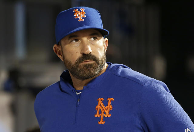 Mickey Callaway's blow up at a reporter is the latest Mets embarrassment. (Photo by Jim McIsaac/Getty Images)