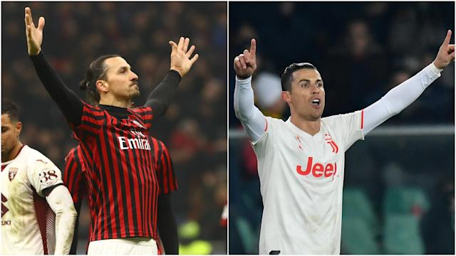 As Zlatan Ibrahimovic and Cristiano Ronaldo prepare to face off in the Coppa Italia last four, we look at prior meetings between the two.