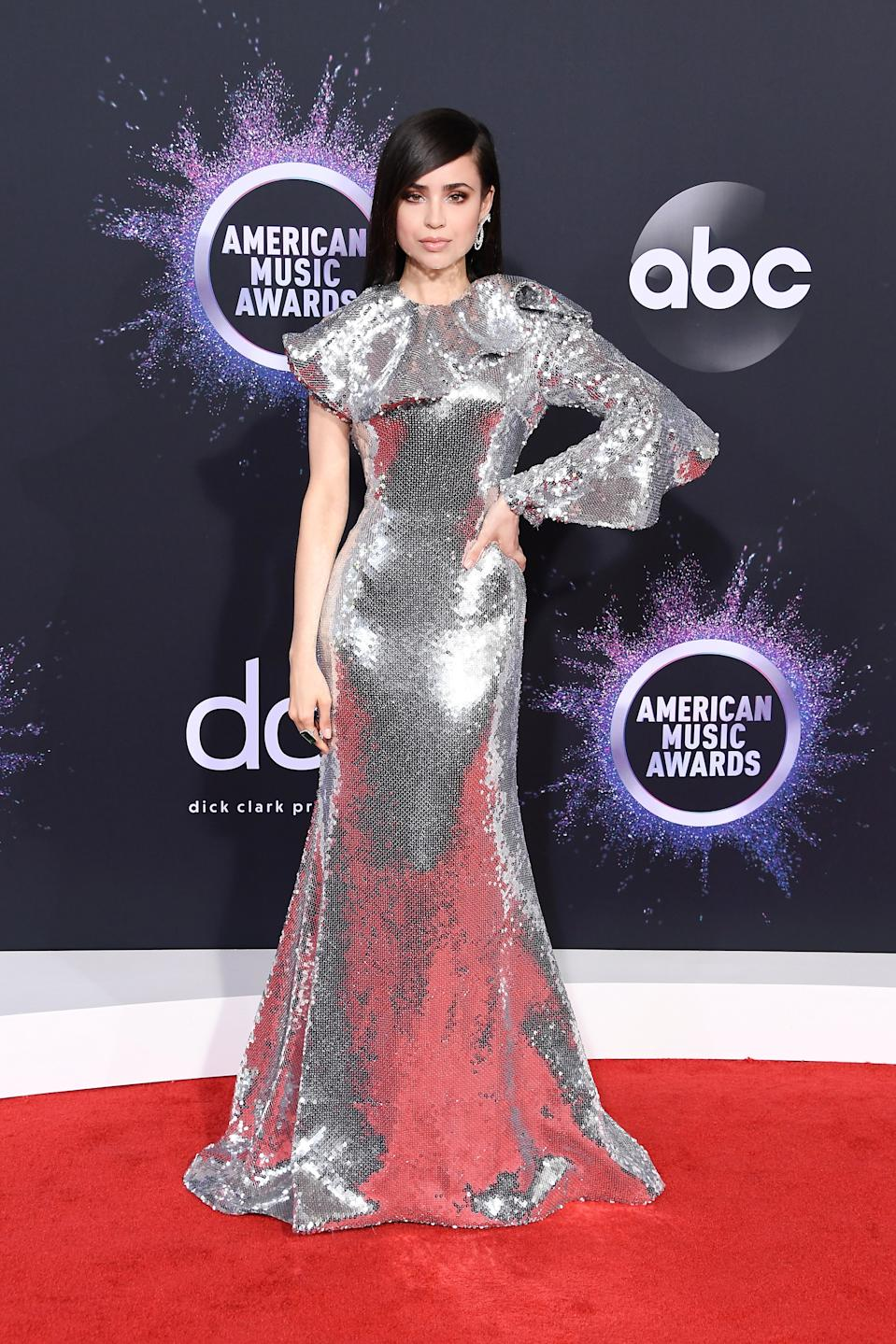 """<h1 class=""""title"""">Sofia Carson in Francesco Scognamiglio and Yvan Tufenkjian jewelry</h1><cite class=""""credit"""">Photo: Getty Images</cite>"""