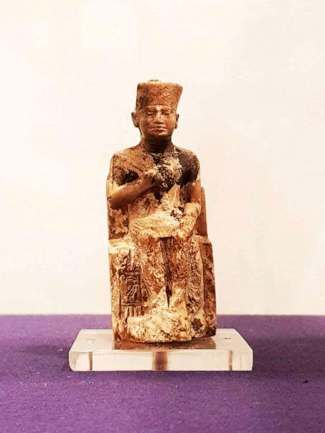 PHOTO: An ivory statuette depicts Egyptian Pharaoh Khufu in the Egyptian Museum in Cairo. (Marwa El Sheemy/Ministry of Tourism and Antiquities)