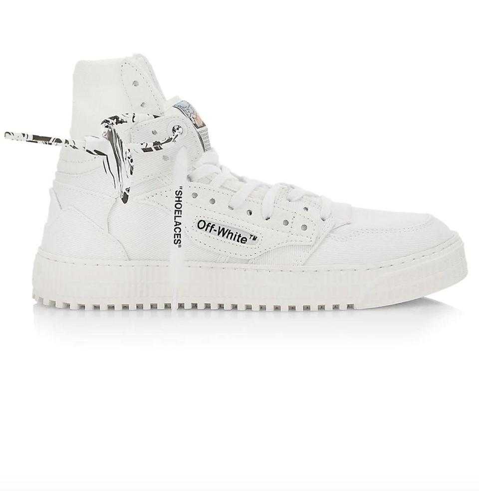 """<p><strong>Off-White</strong></p><p>saksfifthavenue.com</p><p><strong>$470.00</strong></p><p><a href=""""https://go.redirectingat.com?id=74968X1596630&url=https%3A%2F%2Fwww.saksfifthavenue.com%2Fproduct%2Foff-white-off-court-3.0-high-top-sneakers-0400013498435.html&sref=https%3A%2F%2Fwww.esquire.com%2Flifestyle%2Fg22141607%2Fbest-gifts-for-boyfriend-ideas%2F"""" rel=""""nofollow noopener"""" target=""""_blank"""" data-ylk=""""slk:Buy"""" class=""""link rapid-noclick-resp"""">Buy</a></p><p>If he's got his nose buried in street-style 'grams day in and day out, then he'll know the power of Virgil Abloh's Off-White. Besides, fresh white high-tops for summer are a necessity.</p>"""