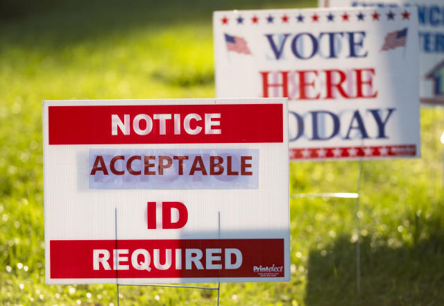 Election Day signs