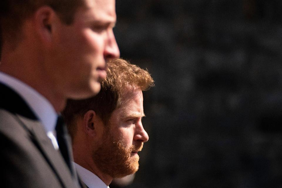 Prince Harry will fly from his US home to be with his brother for a memorial service and the unveiling (PA)