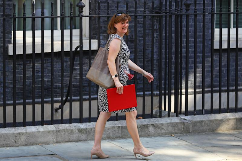 Newly installed Secretary of State for Digital, Culture, Media and Sport Nicky Morgan leaves 10 Downing Street, London, after a cabinet meeting. (Photo by Aaron Chown/PA Images via Getty Images)