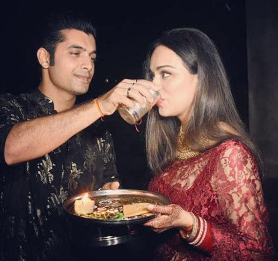Sharad and Ripci first Karwa Chauth pictures
