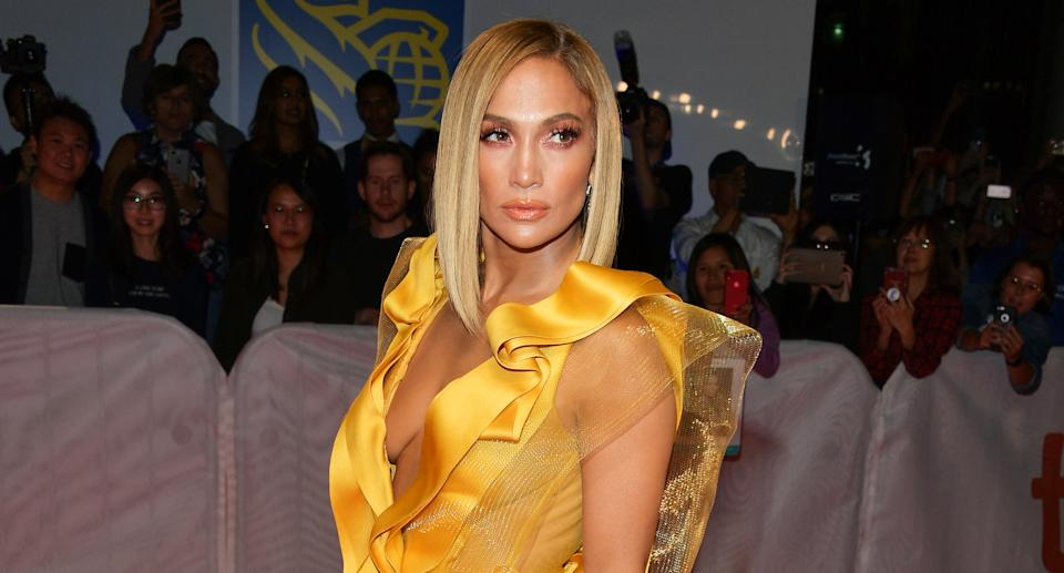 Jennifer Lopez pictured at the Canadian premiere of her new film Hustlers