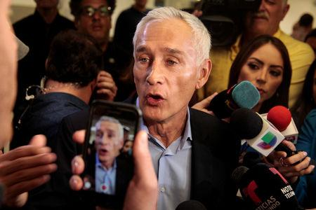 Jorge Ramos anchor of Spanish-language U.S. television network Univision, speaks to reporters about his experience in Venezuela and his attempted interview with Nicolas Maduro, after arriving from Caracas, Venezuela, in Miami, Florida, U.S., February 26, 2019.  REUTERS/Maria Alejandra Cardona