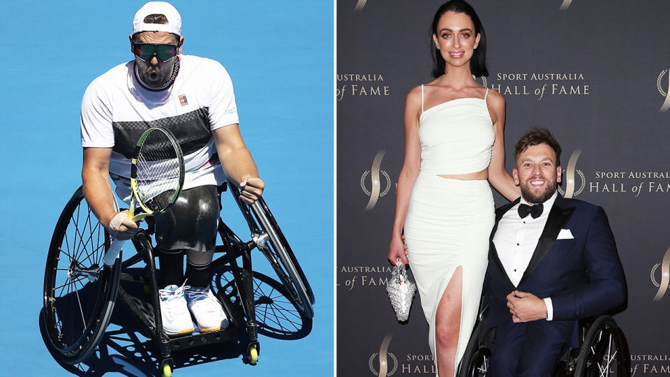 Dylan Alcott and Chantelle Otten, pictured here at the Sport Australia Hall of Fame awards.