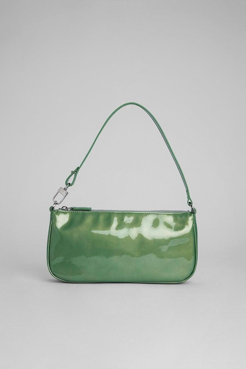 """<p>""""The <span>By Far Rachel Green Metallic Leather Purse</span> ($425) is my ideal handbag. It sits brilliantly under my armpit and is the perfect size for fitting the essentials: phone, wallet, car keys, sunglasses, and chapstick.""""</p>"""