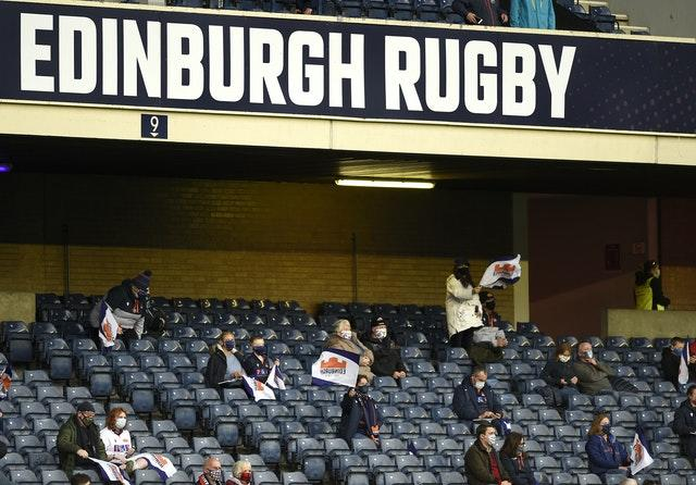 Edinburgh fans at BT Murrayfield last month