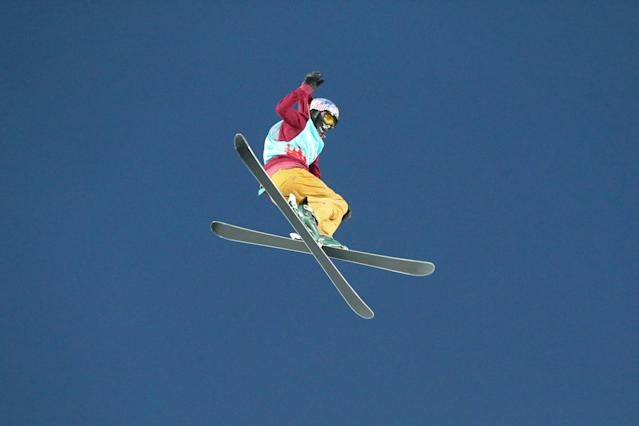 FILE PHOTO: Freestyle Skiing - X Games Women's Big Air Ski finals - Hafjell, Norway - 11/03/17 - Silver medalist Kelly Sildaru from Estonia in action. NTB Scanpix/Geir Olsen/via REUTERS/File Photo ATTENTION EDITORS - THIS IMAGE WAS PROVIDED BY A THIRD PARTY. NORWAY OUT. NO COMMERCIAL OR EDITORIAL SALES IN NORWAY. NO COMMERCIAL SALES.