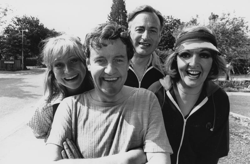 Portrait of actors (L-R) Felicity Kendal, Richard Briers, Paul Eddington and Penelope Keith, photographed for Radio Times in connection with the television sitcom 'The Good Life', May 30th 1978. (Photo by Chris Ridley/Radio Times/Getty Images)