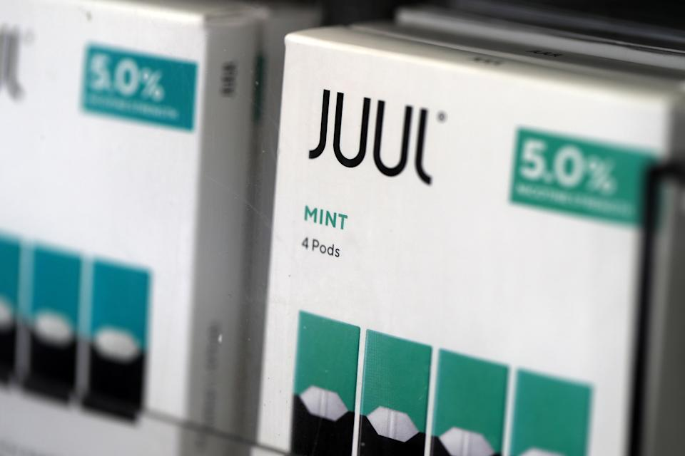 A new study from researchers at Harvard has identified two toxins in Juul pod that have the potential to cause longterm lung damage. (Photo by Justin Sullivan/Getty Images)