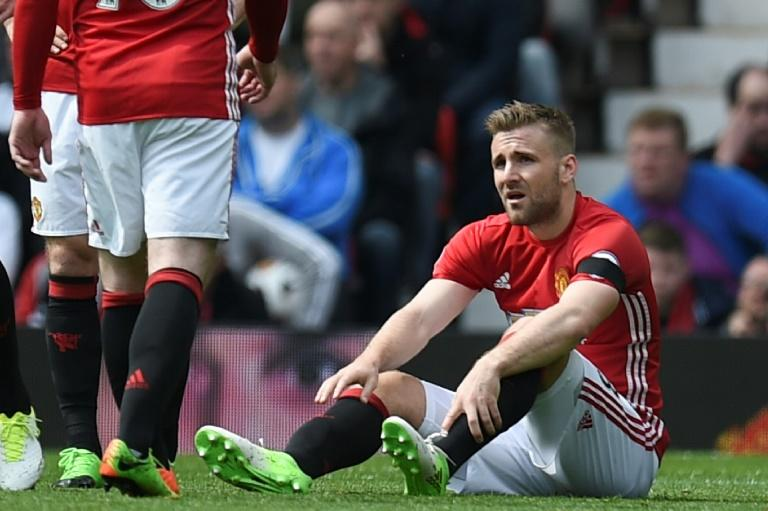 Defenders Luke Shaw (pictured) and Eric Bailly have added to United's defensive woes as they join Phil Jones, Chris Smalling and Marco Rojo on the sidelines
