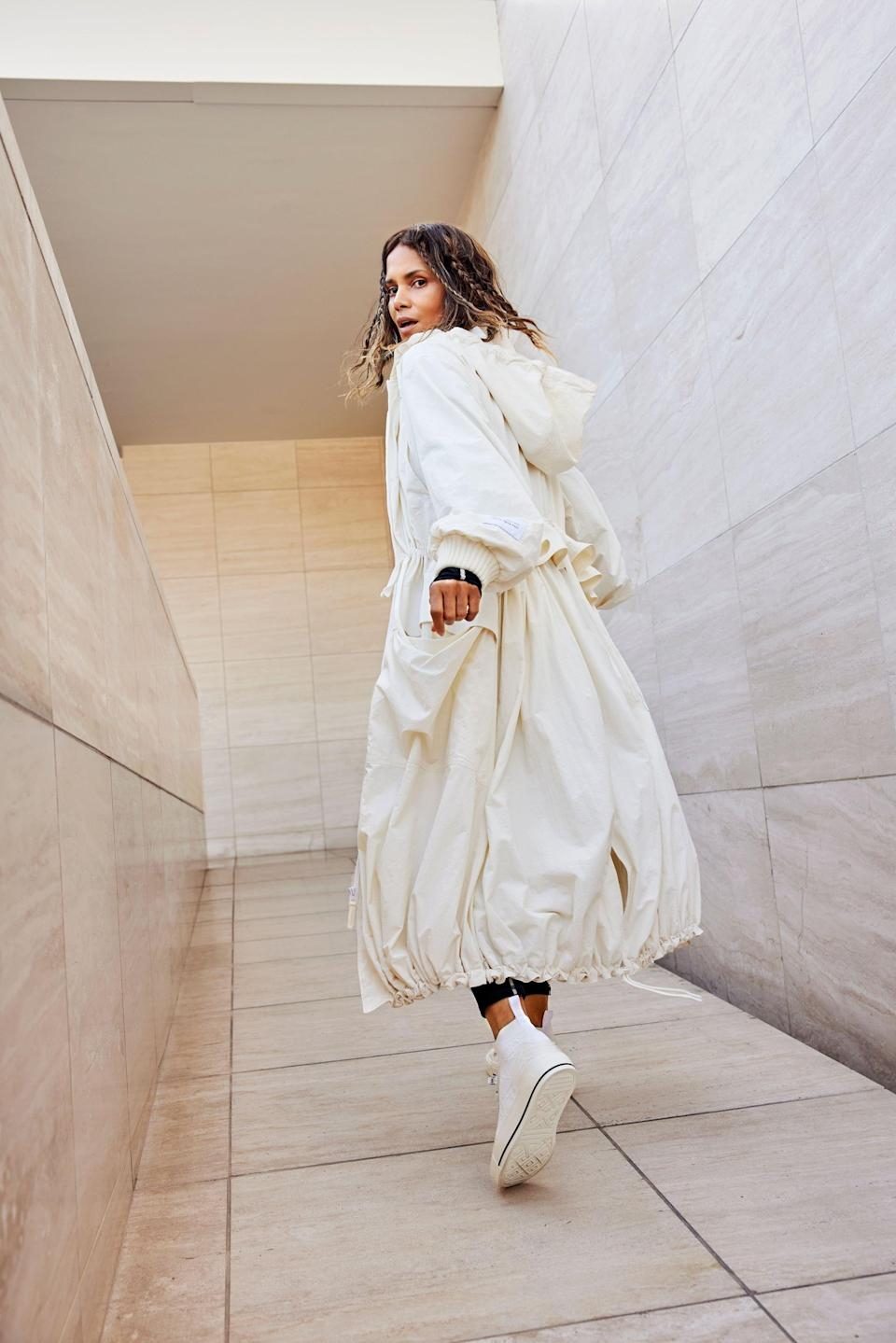 <p>This <span>Halle Berry x Sweaty Betty Karla Parka Jacket</span> ($298) is such a chic outer layer.</p>