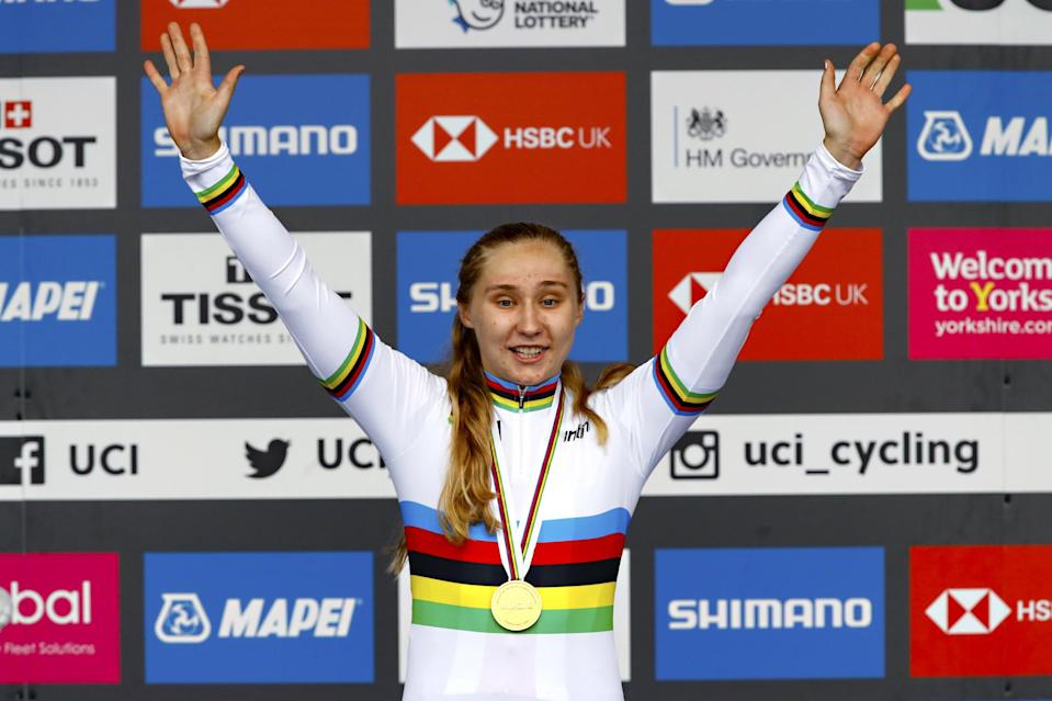 Megan Jastrab won the world title in the road race