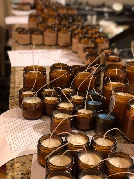 PHOTO: Candles made by Colin, Ryan and Austin Gill for their company Frères Branchiaux. (Gill Family)